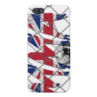 イギリスMMAのスカルの白のiphone 4ケース iPhone 5 ケース