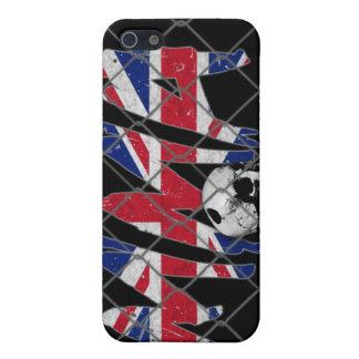 イギリスMMAのスカルの黒のiphone 4ケース iPhone 5 Case