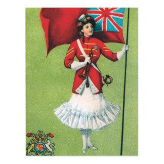 イギリスSoldier女性 ポストカード