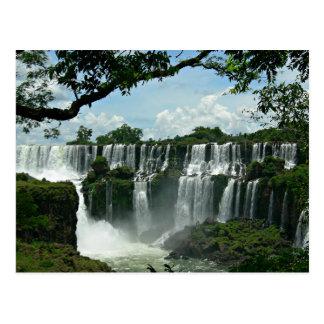 イグアスの滝のパノラマ式 ポストカード
