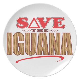 イグアナの保存 プレート