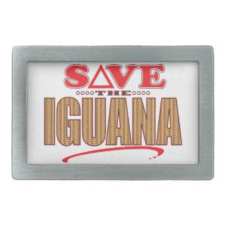 イグアナの保存 長方形ベルトバックル