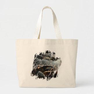イグアナの皮の詳細 ラージトートバッグ