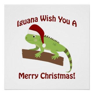 イグアナの願いメリークリスマス ポスター