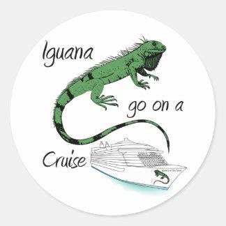 イグアナは巡航で行きます ラウンドシール