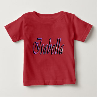 イザベラの名前、ロゴ、ベビーの赤いTシャツ ベビーTシャツ
