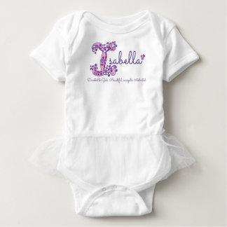イザベラの女の子名前及び意味Iモノグラムのワイシャツ ベビーボディスーツ