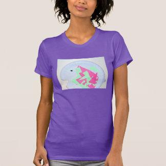イザベラの紫色のピンクおよび緑の魚のTシャツ Tシャツ