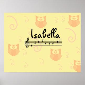 イザベラの音楽的な一流の子供部屋部屋ポスター ポスター