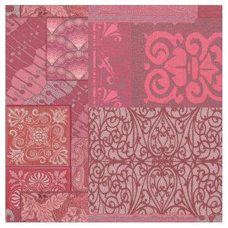 イザベラバーガンディの赤いグランデ ファブリック