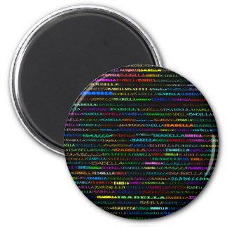 イザベラ文字デザインなIの円形の磁石 マグネット