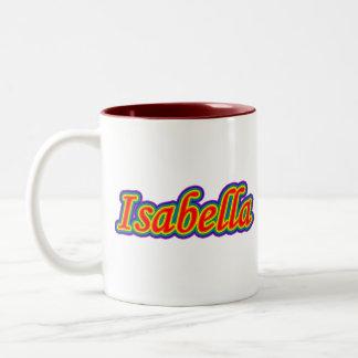 イザベラ-虹-白の… ツートーンマグカップ