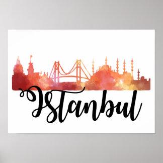 イスタンブールのスカイラインポスター ポスター