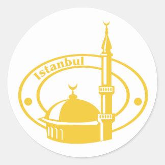イスタンブールのスタンプ ラウンドシール