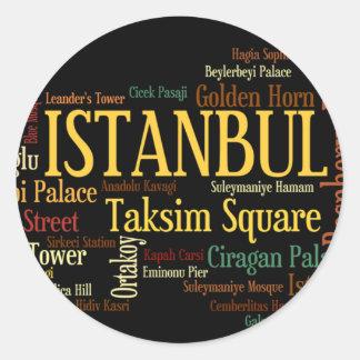 イスタンブールのステッカー ラウンドシール