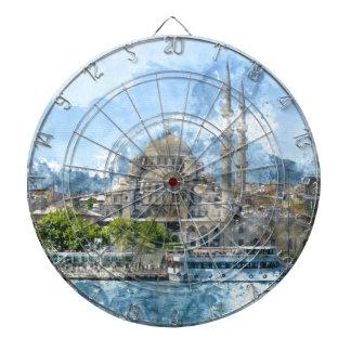 イスタンブールトルコの青いモスク ダーツボード
