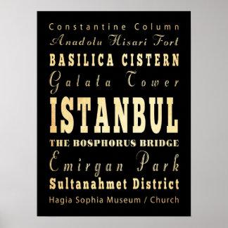 イスタンブール、トルコの魅力及び有名な場所 ポスター