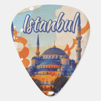 イスタンブールAya Sophiaのモスクのヴィンテージ旅行ポスター ギターピック