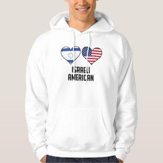 イスラエルのアメリカのハートの旗 パーカ