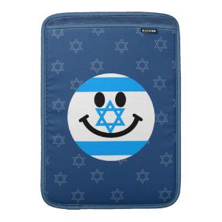 イスラエルの旗のスマイリーフェイス MacBook スリーブ