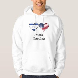 イスラエルの米国旗のハート パーカ
