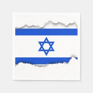 イスラエル人の旗 スタンダードカクテルナプキン