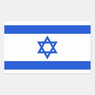 イスラエル人の旗 長方形シール