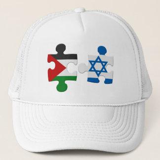 イスラエル共和国およびパレスチナの対立の旗のパズル キャップ