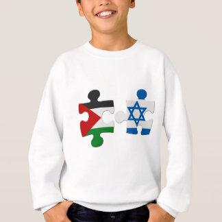 イスラエル共和国およびパレスチナの対立の旗のパズル スウェットシャツ