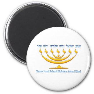 イスラエル共和国およびShemaイスラエル共和国の7枝(ユダヤ教)メノラー マグネット