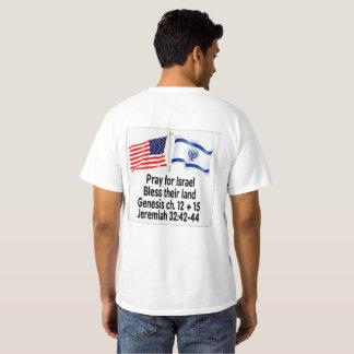 イスラエル共和国のために祈って下さい、土地のワイシャツを賛美して下さい Tシャツ