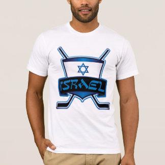 イスラエル共和国のアイスホッケーの旗 Tシャツ