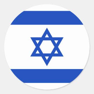イスラエル共和国のステッカー(円)の旗 ラウンドシール