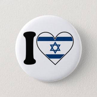 イスラエル共和国のハートの旗 5.7CM 丸型バッジ