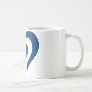 イスラエル共和国のハート コーヒーマグカップ