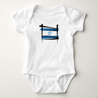 イスラエル共和国のブラシの旗 ベビーボディスーツ