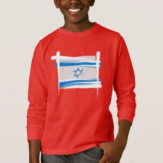 イスラエル共和国のブラシの旗 Tシャツ