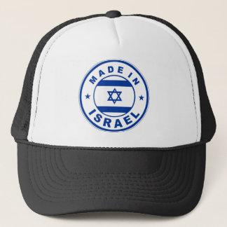 イスラエル共和国の国旗のラベルの円形のスタンプで作られる キャップ