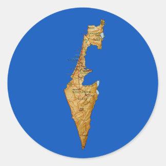 イスラエル共和国の地図のステッカー ラウンドシール