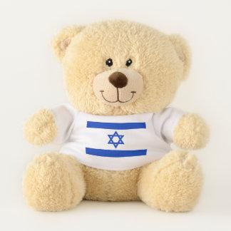 イスラエル共和国の愛国心が強いテディー・ベアの旗 テディベア