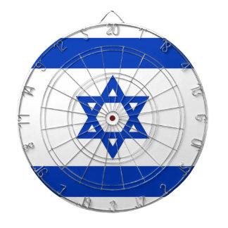 イスラエル共和国の旗が付いているダート盤 ダーツボード