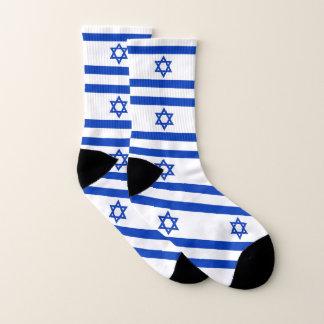 イスラエル共和国の旗が付いているプリントのソックスをくまなく ソックス