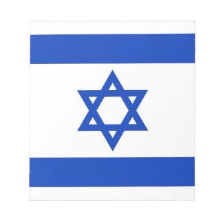 イスラエル共和国の旗が付いているメモ帳 ノートパッド