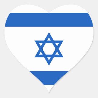 イスラエル共和国の旗のハートのステッカー ハートシール