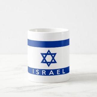 イスラエル共和国の旗の国の文字の名前 コーヒーマグカップ