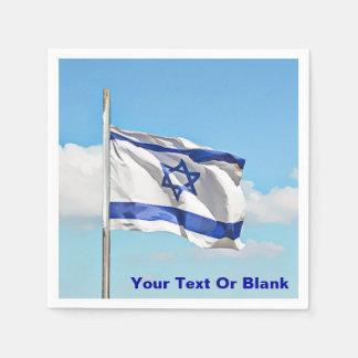 イスラエル共和国の旗 スタンダードカクテルナプキン