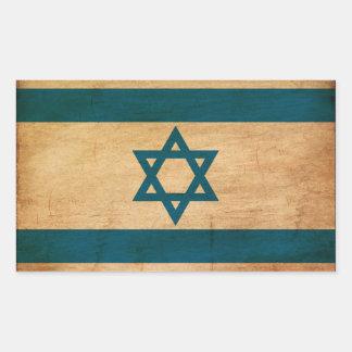 イスラエル共和国の旗 長方形シール