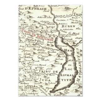 イスラエル共和国の旧式な地図のベンジャーミンのバー(ユダヤ教の)バル・ミツバーは感謝していしています カード