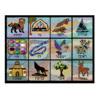 イスラエル共和国の種族 ポストカード