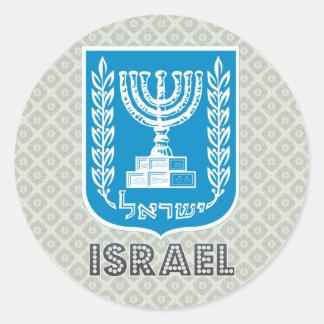 イスラエル共和国の紋章付き外衣 ラウンドシール